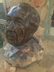 Bust of Frank Lloyd Wright.