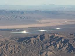 Ivanpah Solar Power Facility, CA (from air).