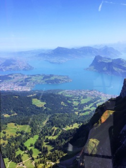 Lake Lucerne from the top of Mt. Pilatus