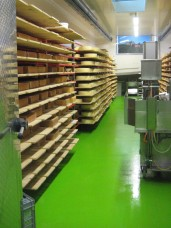 Cheese stays in the curing room until ready to be sold, which is months.