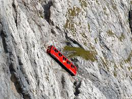 Pilatus cogwheel train gradient