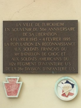 Plaque commemorating the 50th Anniversary of the Comar Pocket campaign.
