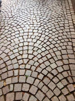 Beautiful cobblestone streets.