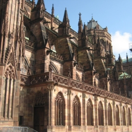 Cathedral. Buttresses flying
