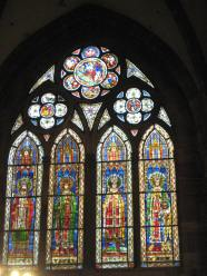 Stained glass, from distance